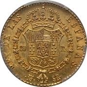 80 Reales - Fernando VII – reverse