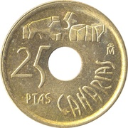 25 Pesetas (Canary Islands) -  reverse