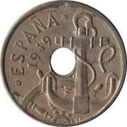 50 Centimos (Anchor; Arrows up) -  obverse