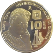 10 Euro - Juan Carlos I (Marie Curie) -  obverse