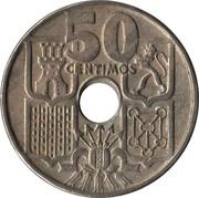 50 Centimos (Anchor; Arrows up) -  reverse