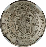 4 Reales - Isabel II (CONST) – reverse