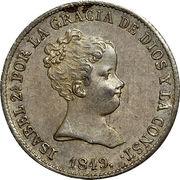 1 Real - Isabel II (1st portrait) – obverse