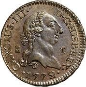 1 Maravedi - Carlos III – obverse