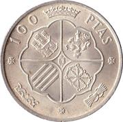 100 Pesetas - Francisco Franco -  reverse