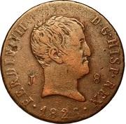 8 Maravedis - Fernando VII (3rd portrait) – obverse