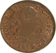 1 Maravedi - Carlos IV (Segovia) – obverse