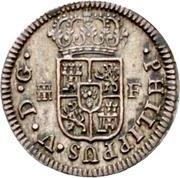 ½ Real - Felipe V (1st type) -  obverse