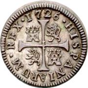 ½ Real - Felipe V (1st type) -  reverse
