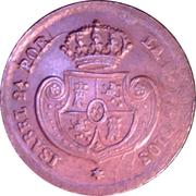 ½ Decima de Real - Isabel II – obverse