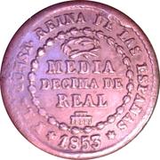 ½ Decima de Real - Isabel II – reverse
