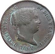 10 Centimos de Real - Isabel II – obverse