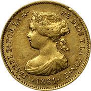 20 Reales - Isabel II – obverse