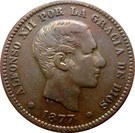 5 Centimos - Alfonso XII – obverse