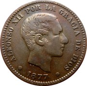 5 Centimos - Alfonso XII -  obverse