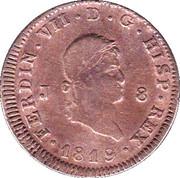 8 Maravedis - Fernando VII (Jubia,2nd portrait) – obverse