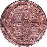 8 Maravedis - Fernando VII (Jubia,2nd portrait) – reverse
