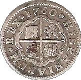1 Real - Carlos III (1st type) – reverse