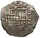 2 Reales - Felipe II (Seville) – obverse