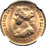 40 Reales - Isabel II – obverse