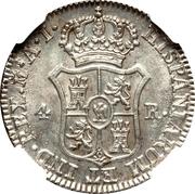 4 Reales de vellon - Jose I Bonaparte – reverse