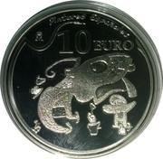 10 Euro (Joan Miró - Personajes y pájaros con un perro) -  reverse