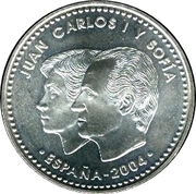 12 Euro - Juan Carlos I (Prince Felipe Royal Wedding) -  obverse