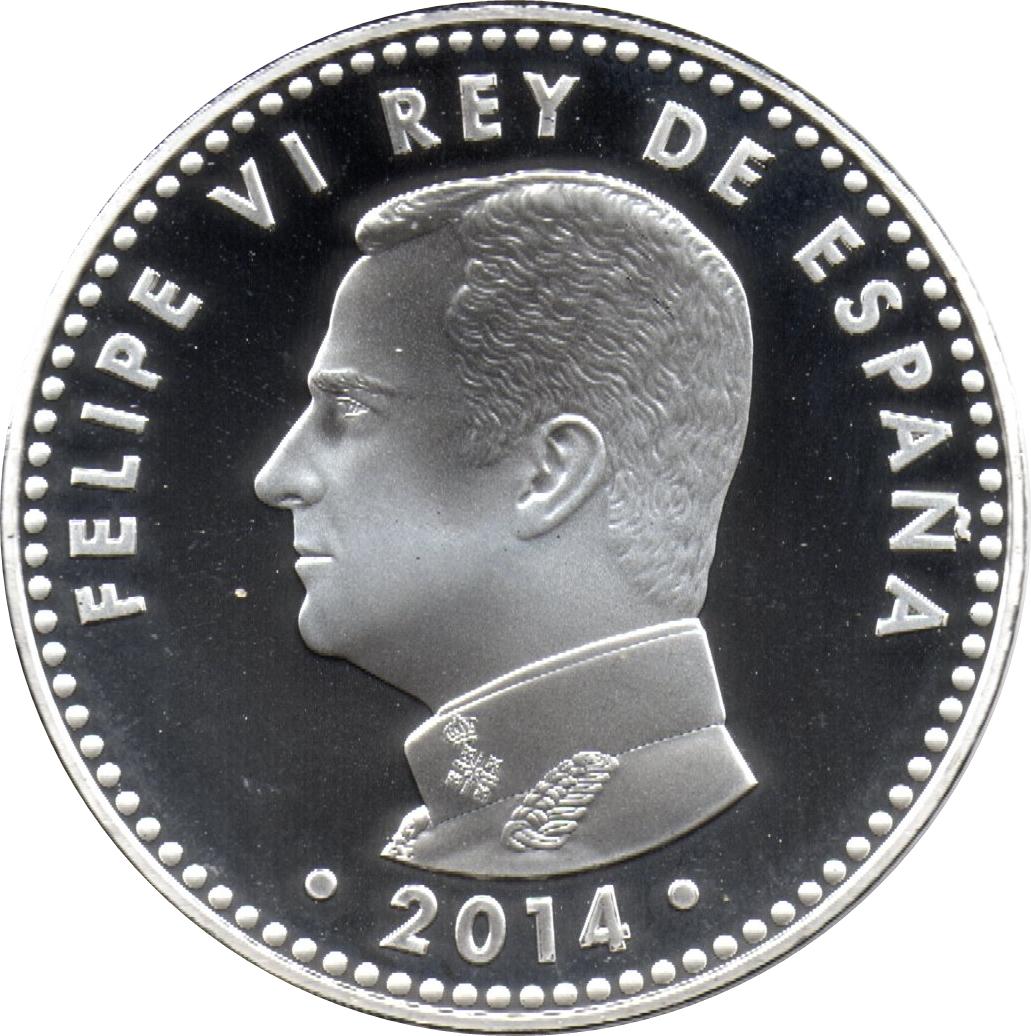 """Spain 30 euro 2014 /""""400th ann of El Greco/"""" Silver UNC"""