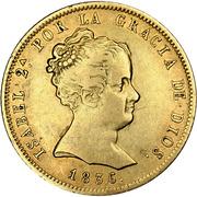 80 Reales - Isabel II (DIOS) – obverse