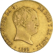 160 Reales - Fernando VII – obverse