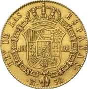 160 Reales - Fernando VII – reverse
