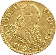 ½ Escudo - Carlos IV – obverse