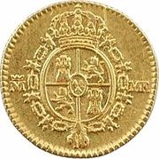 ½ Escudo - Carlos IV – reverse