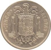 5 Pesetas - Francisco Franco -  obverse