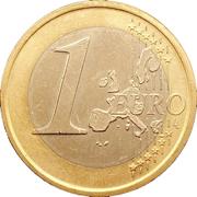 1 Euro - Juan Carlos I (1st type - 1st map) -  reverse