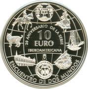 10 Euro - Juan Carlos I (Ibero-American Series IX) -  reverse