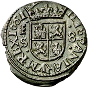 8 Maravedis - Felipe IV (Segovia,billon milled) – reverse