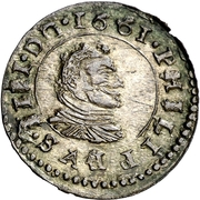 16 Maravedis - Felipe IV (large bust) – obverse