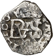 ½ Real - Felipe IV (monogram) – obverse