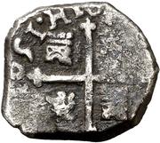 ½ Real - Felipe IV (monogram) – reverse