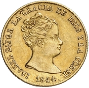 80 Reales - Isabel II (Small head) – obverse
