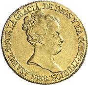 80 Reales - Isabel II (CONSTITUCION) – obverse