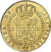 80 Reales - Isabel II (CONSTITUCION) – reverse
