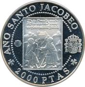 2000 Pesetas - Juan Carlos I (German jacobean pilgrims) -  reverse