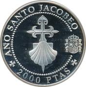 2000 Pesetas - Juan Carlos I (Cross and scallop shell) -  reverse