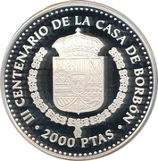 2000 Pesetas - Juan Carlos I (Luis I) -  reverse