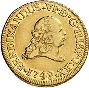 2 Escudos - Fernando VI – obverse