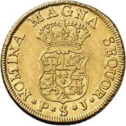 2 Escudos - Fernando VI – reverse