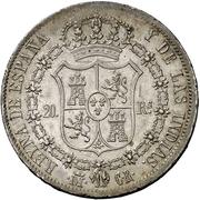 20 Reales - Isabel II – reverse