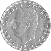 5 Pesetas - Juan Carlos I (with mintmark) -  obverse
